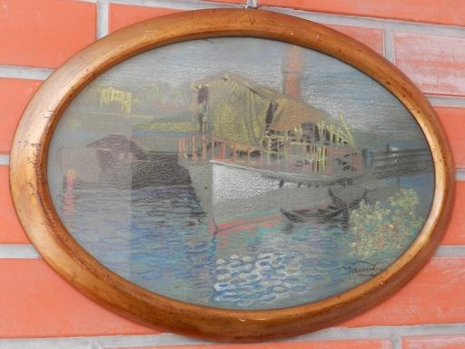Karoly HARMOS - Drawing-Watercolor - Port-Komarno