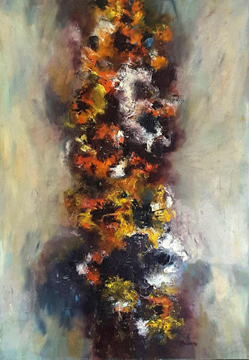 Theodora BERNARDINI - Painting - Ciel des Taches Rouges