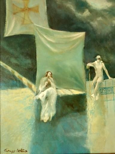 """François ANTON - Painting - """"L'ile de la Santa Maria"""""""