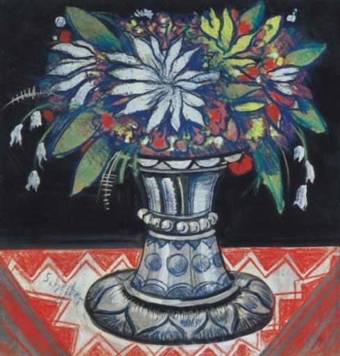 Hugo SCHEIBER - Painting - Vase of Flowers