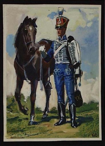 """Ernst LIEBENAUER - Pittura - """"Hussar"""" by Ernst Liebenauer, ca 1915"""