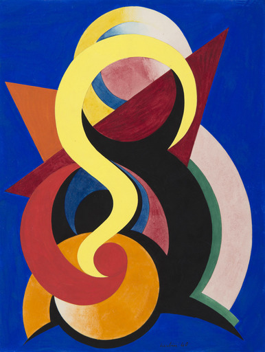 Auguste HERBIN - Drawing-Watercolor - Composition