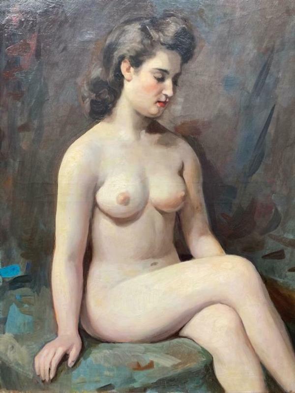 José WOLFF - Painting - Nue