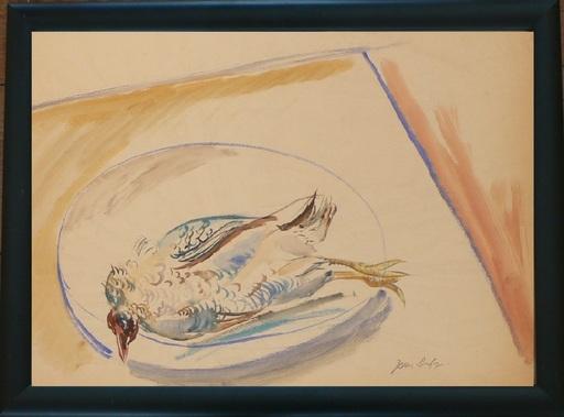 Jean DUFY - Disegno Acquarello - Nature morte au gibier
