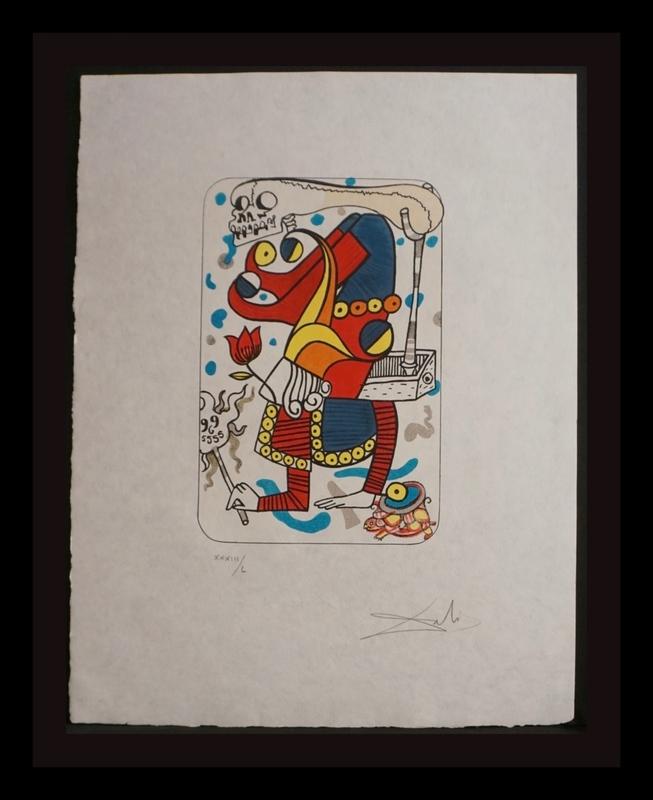 萨尔瓦多·达利 - 版画 - Playing Cards Joker