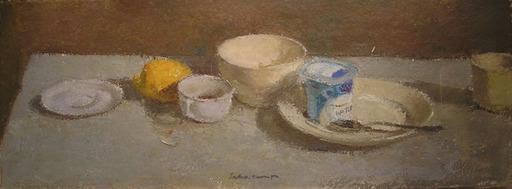 Angel BADIA CAMPS - Pintura - Taula i iogurt