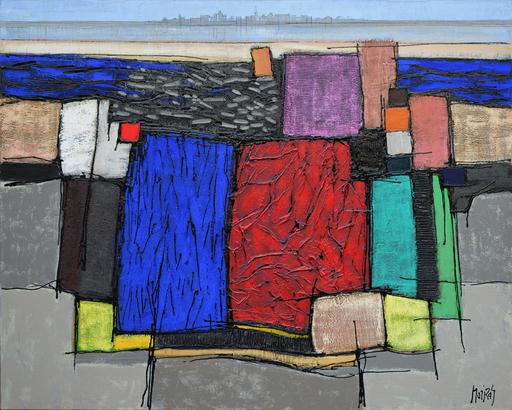 Jean MOIRAS - Painting - La lagune de Venise