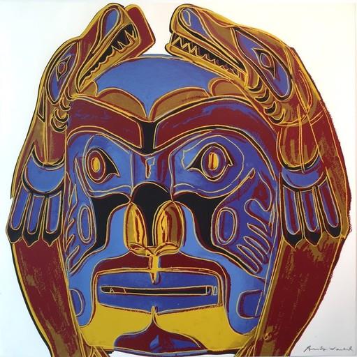 Andy WARHOL - Print-Multiple - Northwest Coast Mask