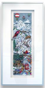 Charles FAZZINO - Druckgrafik-Multiple - Skiing Austria