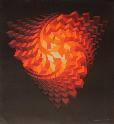 Jean ALLEMAND - 版画 - Composition abstraite