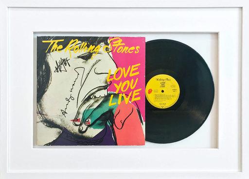 """安迪·沃霍尔 - 版画 - Vinyl record """"The Rolling Stones - Love You Live"""""""