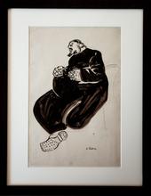 Auguste CHABAUD - Dibujo Acuarela - Frère Marius de l'Abbaye du Frigolet