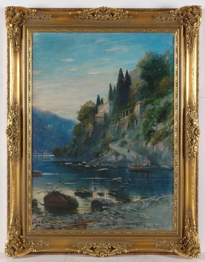"""Edgar MEYER - Drawing-Watercolor - """"Adriatic Motif"""", Large Watercolor"""