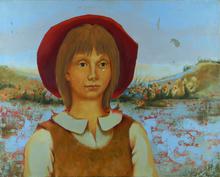 Pierre LAVARENNE - Pintura - Girl in Red Hat