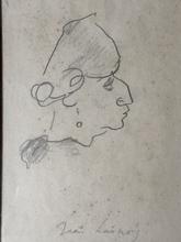 Jean LAUNOIS - Dessin-Aquarelle - Visage de profil