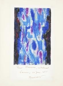 Alfred MANESSIER - Zeichnung Aquarell - Composition 10.01.1965