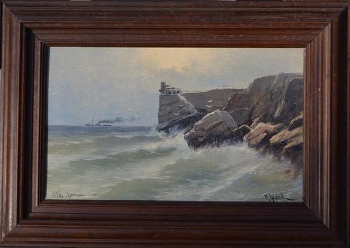 Mikhail ALISOV - Pintura - Lastochkino gnezdo, Crimean view