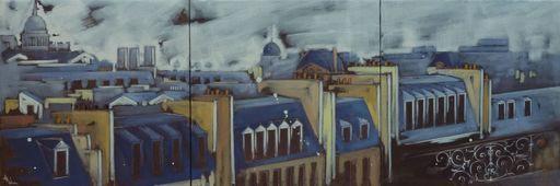 Anne Christine WELLENSTEIN - Peinture - Mon Horizon