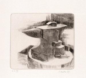 Osterhold HEISEKE - Estampe-Multiple - Der Amboss