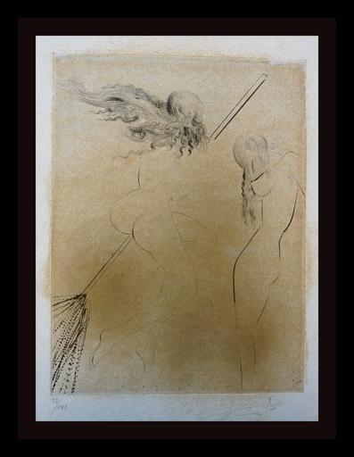 萨尔瓦多·达利 - 版画 - Faust Sorcieres au Balai