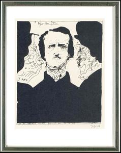 Horst JANSSEN - 版画 - Edgar Allen Poe, 13.2.1966