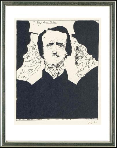Horst JANSSEN - Stampa-Multiplo - Edgar Allen Poe, 13.2.1966