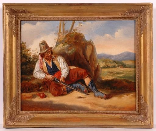 "Louis Georges PARADIS - Painting - ""Brigante"", Oil/Canvas, 1831"
