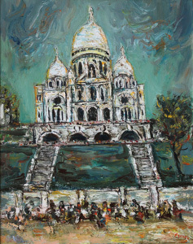 Yitzhak FRENKEL-FRENEL - Peinture - Sacré-Coeur