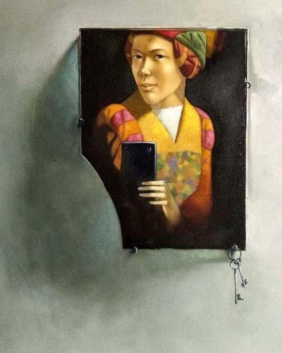 Bobur ISMOILOV - Peinture - Selfportrait