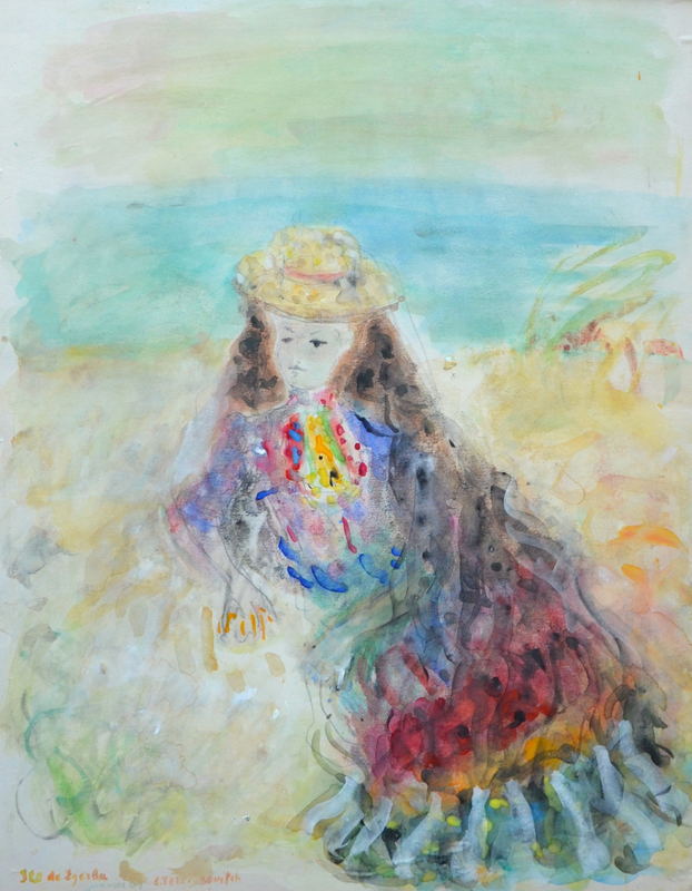 Constantin Andréevitch TERECHKOVITCH - Dessin-Aquarelle - Ile de Djerba