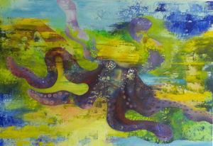 Cor FAFIANI - Peinture - Octopus