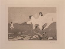 Edvard MUNCH (1863-1944) - Women bathing