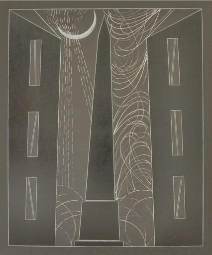 Franco ANGELI - Peinture - NOTTURNO ROMANO