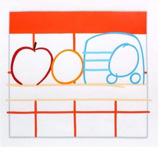 Tom WESSELMANN - Stampa Multiplo - Still Life with Apple Orange and Radio