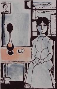 Domenico CANTATORE - Estampe-Multiple - Donne nell'interno