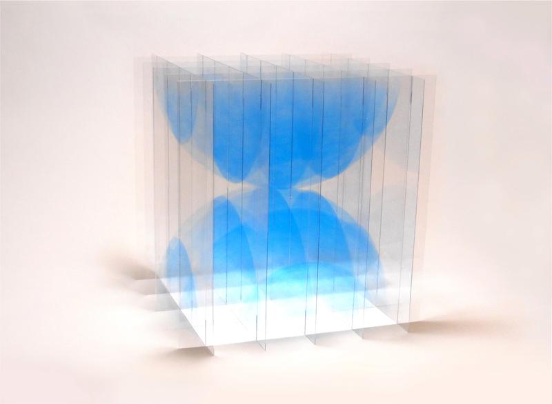 Go SEGAWA - Skulptur Volumen - Collision blue
