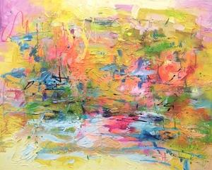 Nicole LEIDENFROST - Gemälde - Bunte Wiese