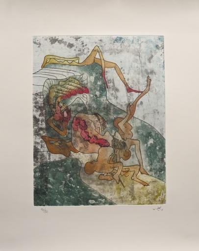 """Roberto MATTA - Grabado - From the La Piaga portfolio, entitled """"Un autre après"""""""