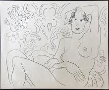 亨利·马蒂斯 - 版画 - Nu assis, bras gauche sur la tete