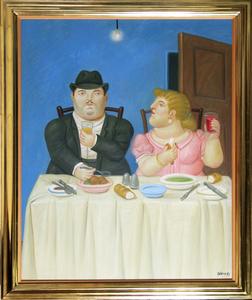 Fernando BOTERO - Pittura - The Dinner