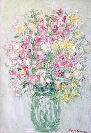 André COTTAVOZ - Pittura - Bouquet printanier