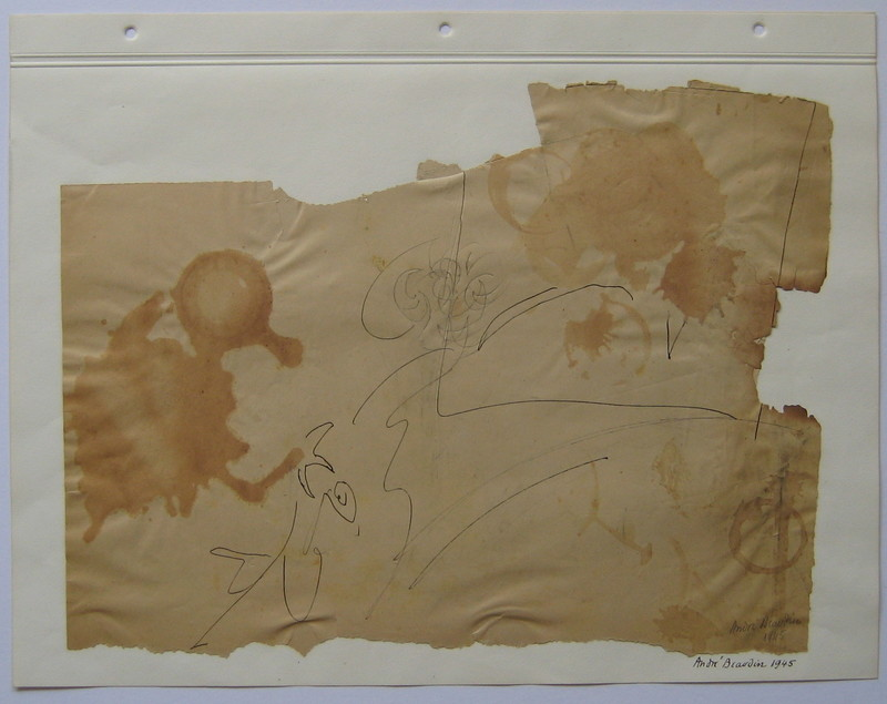 André BEAUDIN - Drawing-Watercolor - DESSIN ENCRE SUR PAPIER 45 SIGNÉ MAIN HANDSIGNED DRAWING