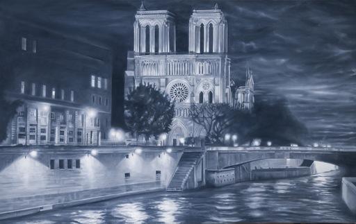 Gian Marco MONTESANO - Pintura - Paris, La Seine pres de Notre-Dame