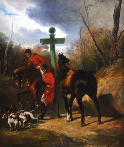 Alfred DE DREUX - Pintura - halte de chasseurs