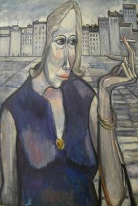 Pierre DORY - Painting - Personnage