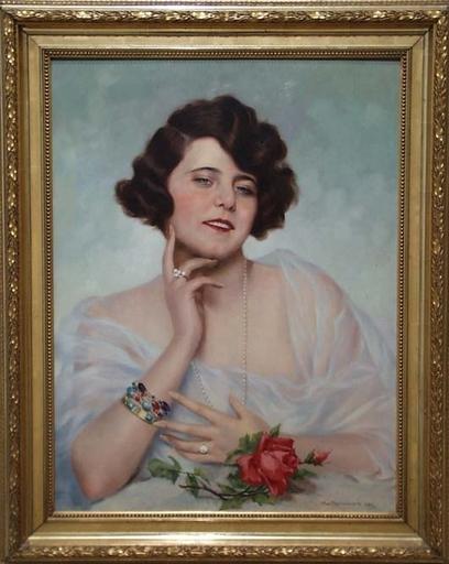 "Maximilian SPILHACZEK - Peinture - ""Young Beauty"" by Max Spilhaczek,  1930"