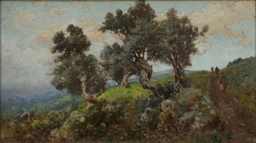 Michele CATTI - Pintura - raccolta delle olive