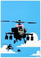 BANKSY - Estampe-Multiple - Happy Chopper Signed