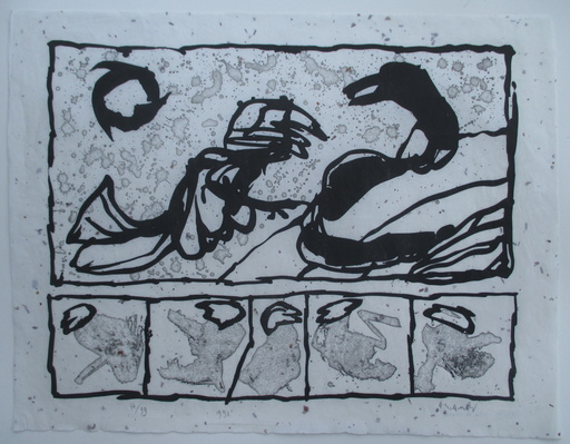 皮埃尔·阿列钦斯基 - 版画 - Lettre de creance I