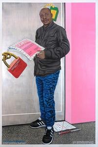 Chéri SAMBA - Pintura - Le vieux finaliste